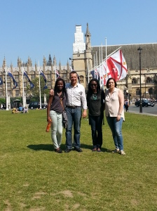 Prayer Partners outside Westminster Abbey