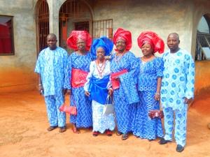 Grandma and 5 of 6 kids