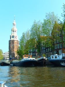One of the famous UNESCO canals in Amsterdam.