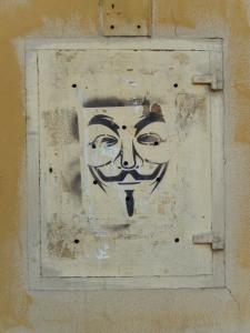 Gaaaah V for Vendetta street art!