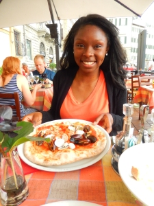 Yummy pizza in Florence