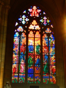 Awesome stainglass near the Prague Castle