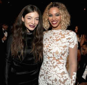 Lorde & Beyonce at the 2014 Grammys